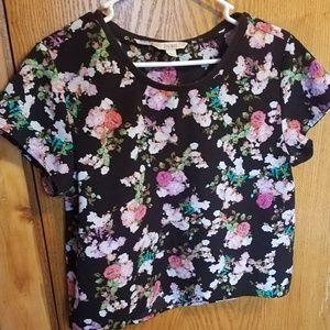 Decree floral print shirt sz M